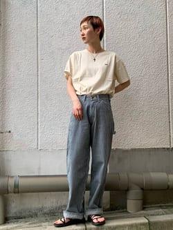 Lee 名古屋店のアンジェラさんのLeeの【ユニセックス】DUNGAREES ペインターパンツを使ったコーディネート