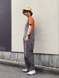 Lee 名古屋店のアンジェラさんのLeeの【SALE】【Pipes】オーバーオールを使ったコーディネート