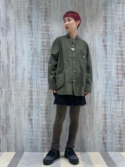 Lee 名古屋店のアンジェラさんのLeeの【直営店・WEB限定】ビッグポケット シャツジャケットを使ったコーディネート