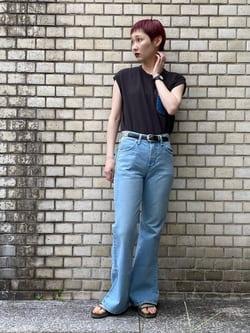 Lee 名古屋店のアンジェラさんのLeeの【SALE】デニムポケット ノースリーブTシャツを使ったコーディネート