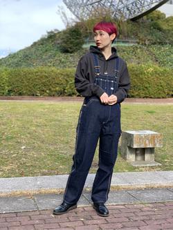 Lee 名古屋店のアンジェラさんのLeeの【オールシーズン着回せる】オーバーオール テーパードを使ったコーディネート