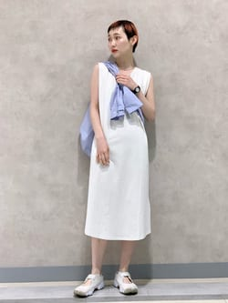 Lee 名古屋店のアンジェラさんのLeeの【直営店・WEB限定】フレンチスリーブ マキシドレスを使ったコーディネート