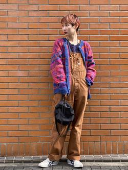 Lee 名古屋店のアンジェラさんのLeeの【年間ベストセラー】オーバーオールを使ったコーディネート