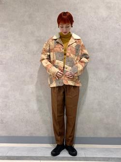 名古屋店のアンジェラさんのLeeのパッチワーク ボアジャケットを使ったコーディネート