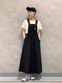 Lee 名古屋店のアンジェラさんのLeeの【Lee×GRAMICCI(グラミチ)】オーバーオール スカートを使ったコーディネート
