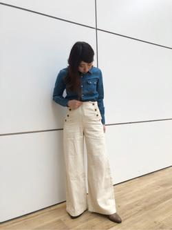 エスパル仙台店のkasumiさんのLeeのウエスタンシャツ 長袖を使ったコーディネート