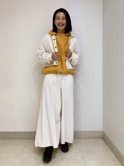 Lee アミュプラザ博多店のYurieさんのLeeの【Pre sale】【柔らかい風合い】ステッチワーク パーカーを使ったコーディネート
