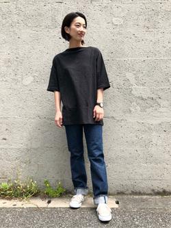 Lee アミュプラザ博多店のYurieさんのLeeの【竹下玲奈さんモデル】ビッグフィットTシャツを使ったコーディネート