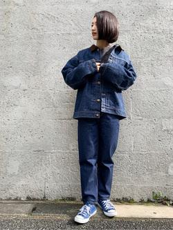 Lee アミュプラザ博多店のYurieさんのLeeの【再値下げ Winter sale】101 PROJECT STORM COWBOY JACKETを使ったコーディネート