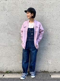 Lee アミュプラザ博多店のYurieさんのLeeのバンドカラー デニム/コットン 長袖シャツを使ったコーディネート