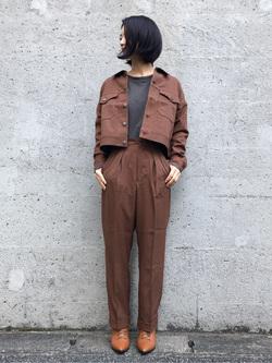 Lee アミュプラザ博多店のYurieさんのLeeの【セットアップ対応】ジャケットを使ったコーディネート