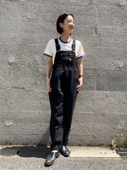 Lee アミュプラザ博多店のYurieさんのLeeのキッズ【直営店・WEB限定】リンガーTシャツ【100-150cm】を使ったコーディネート