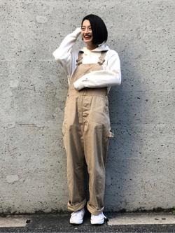 Lee アミュプラザ博多店のYurieさんのLeeの【Winter sale】ワークミリタリー オーバーオールを使ったコーディネート