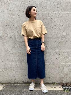 Lee アミュプラザ博多店のYurieさんのLeeのSTANDARD WARDROBE スカートを使ったコーディネート