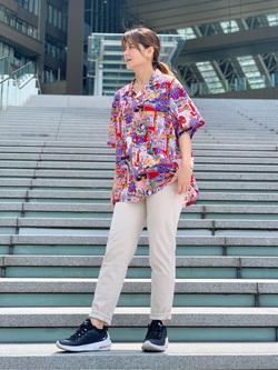 LINKS UMEDA店のYUKIさんのEDWINの【EDWIN 60周年限定】 半袖シャツを使ったコーディネート