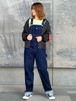 LINKS UMEDA店のYUKIさんのALPHAのL-2B ボンディングジャケットを使ったコーディネート