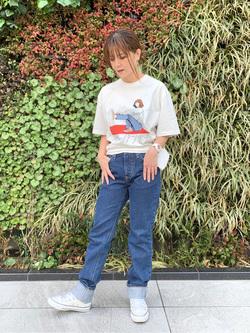LINKS UMEDA店のYUKIさんのEDWINのインターナショナルベーシック 407 ふつうのスリムを使ったコーディネート