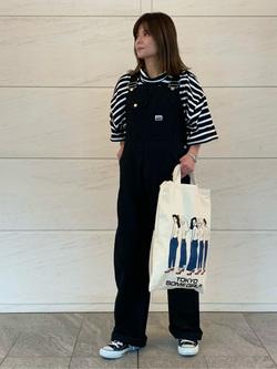 LINKS UMEDA店のYUKIさんのEDWINの【直営店限定】ビックフィット ハイネック半袖Tシャツを使ったコーディネート