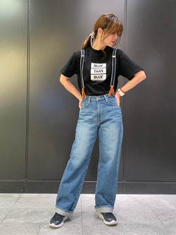 LINKS UMEDA店のYUKIさんのEDWINの終了【サマーセール】メッセージ Tシャツ 半袖を使ったコーディネート