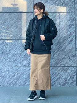 LINKS UMEDA店のYUKIさんののMA-1 タイト ジャケット【ユニセックス】を使ったコーディネート