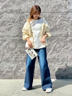 LINKS UMEDA店のYUKIさんのSOMETHINGの終了【ガレージセール】SOMETHING ビッグシャツを使ったコーディネート