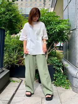 LINKS UMEDA店のYUKIさんのEDWINの【再値下げSALE】バンダナ柄 ポケット 半袖Tシャツを使ったコーディネート