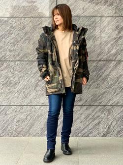 LINKS UMEDA店のYUKIさんのEDWINの【Winter sale】EDWIN LADIES ラウンドヘム ロングスリーブTシャツを使ったコーディネート