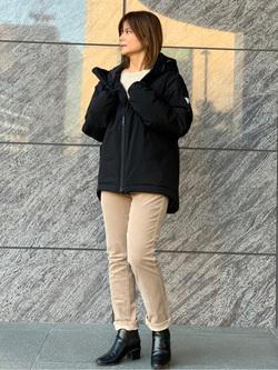 LINKS UMEDA店のYUKIさんのEDWINのF.L.E エアーサックジャケット (二層防風)を使ったコーディネート