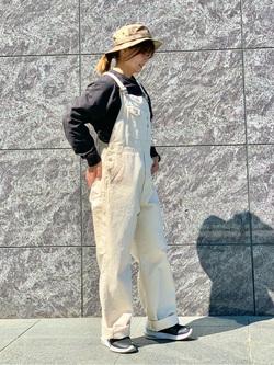 LINKS UMEDA店のYUKIさんのEDWINの【直営店限定】オーバーオール【ユニセックス】を使ったコーディネート