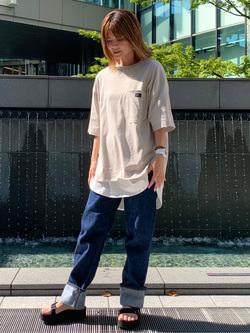 LINKS UMEDA店のYUKIさんのC17のC17 ポケット ビッグTシャツを使ったコーディネート