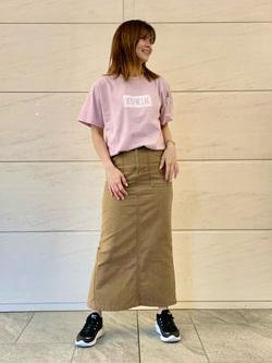 LINKS UMEDA店のYUKIさんのSOMETHINGの終了【ガレージセール】SOMETHING ベイカースカートを使ったコーディネート