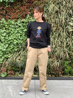 LINKS UMEDA店のYUKIさんのEDWINの終了【サマーセール】OLD AD EDDY Tシャツ 長袖を使ったコーディネート