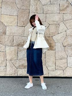LINKS UMEDA店のYUKIさんのLADIVAのLADIVA ルームジーンズ マルチスカートを使ったコーディネート