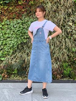 LINKS UMEDA店のYUKIさんのEDWINの【サマーセール】EDWIN LADIES ベーシック プリントTシャツを使ったコーディネート