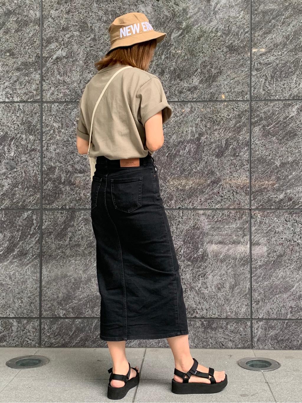 LINKS UMEDA店のYUKIさんのEDWINの【直営店限定】【親子コーデができる】クルーネックポケットTシャツ 半袖 【110-180cm】を使ったコーディネート