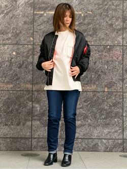 LINKS UMEDA店のYUKIさんのEDWINの【Winter sale】ミリタリーポケット ロングスリーブTシャツを使ったコーディネート