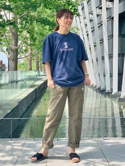 LINKS UMEDA店のYUKIさんのEDWINの【コンセプトショップ限定】EDWIN EUROPE INNER SELF TEEを使ったコーディネート