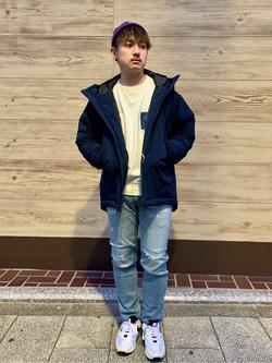 日暮里駅前店のDaichiさんのEDWINの【Winter sale】F.L.E エアーサックジャケット (二層防風)を使ったコーディネート