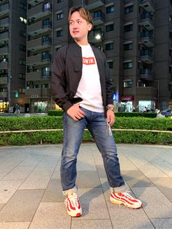 日暮里駅前店のDaichiさんのEDWINの【Pre sale】BOXロゴ ロングスリーブTシャツを使ったコーディネート