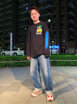 日暮里駅前店のDaichiさんのEDWINの505 ワイドストレートを使ったコーディネート