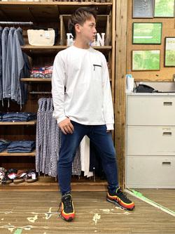 日暮里駅前店のDaichiさんのEDWINのF.L.E ZIPポケット ロングスリーブTシャツを使ったコーディネート