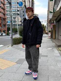 日暮里駅前店のDaichiさんのEDWINのF.L.E エアーサックジャケット (二層防風)を使ったコーディネート
