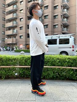 日暮里駅前店のDaichiさんのEDWINのF.L.E 袖ロゴプリント ロングTシャツ Bを使ったコーディネート