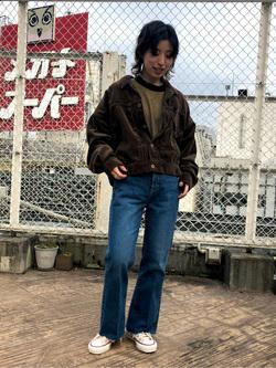 ルミネエスト新宿店のAzusaさんのLeeの【セットアップ対応】STANDARD WARDROBE COWGIRL ジャケット(コーデュロイ)を使ったコーディネート