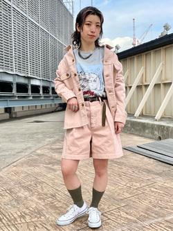 ルミネエスト新宿店のアンドウさんのLeeの【セットアップ対応】シャツジャケットを使ったコーディネート