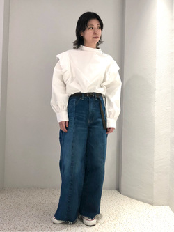 ルミネエスト新宿店のAzusaさんのLeeの【Pre sale】ビックショルダーシャツを使ったコーディネート