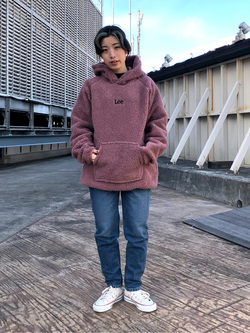 ルミネエスト新宿店のAzusaさんのLeeの終了【Winter sale】【ユニセックス】フリースプルオーバーを使ったコーディネート