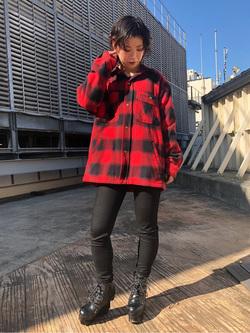 ルミネエスト新宿店のAzusaさんのLeeの【トップス15%OFFクーポン対象】【さらっと羽織れる】シャツジャケットを使ったコーディネート