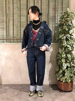 ルミネエスト新宿店のAzusaさんのLeeのSTANDARD WARDROBE RIDERS デニムジャケットを使ったコーディネート