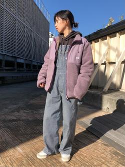 ルミネエスト新宿店のAzusaさんのLeeの【ユニセックス】フリースジップアップジャケットを使ったコーディネート